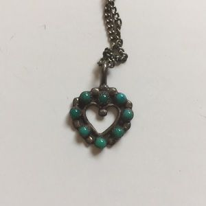 Small Vintage Sterling Heart Necklace